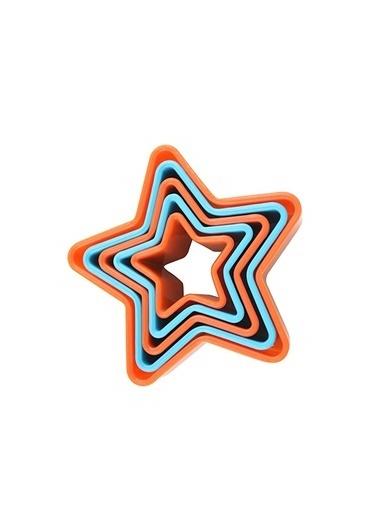 Fackelmann Fackelmann 684746 5' Li Plastik Yıldız Kurabiye Kesici Renkli